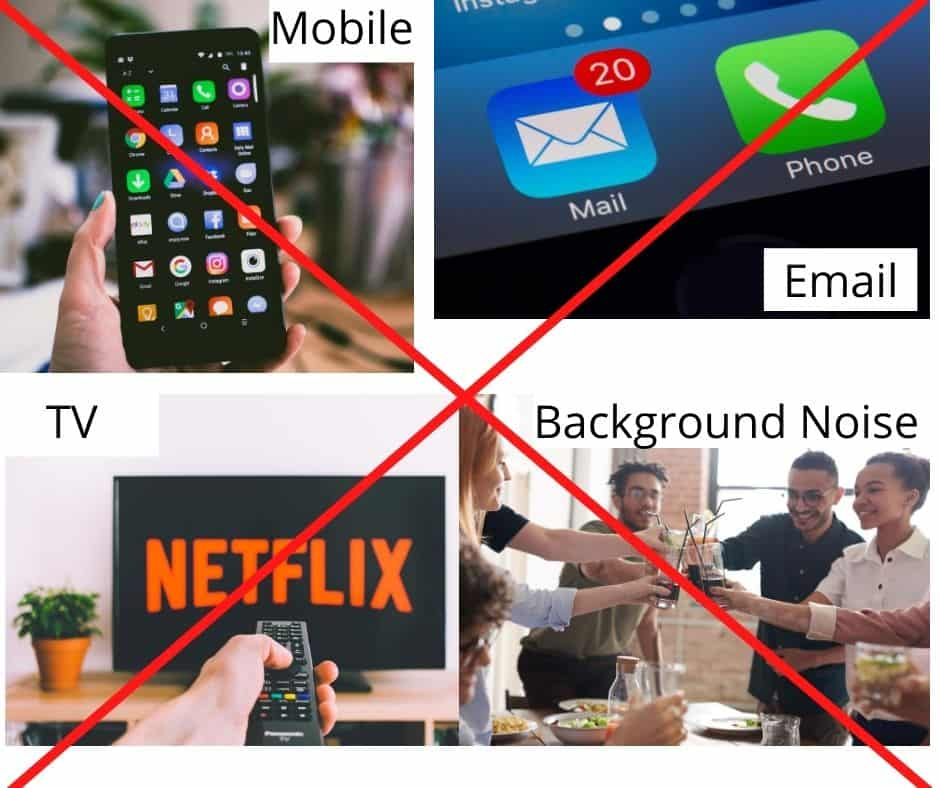 An image of a mobile phone, email, friends socialising and a tv, with a Red Cross through the middle.