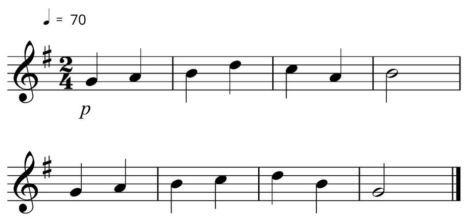 An image of basic sight reading